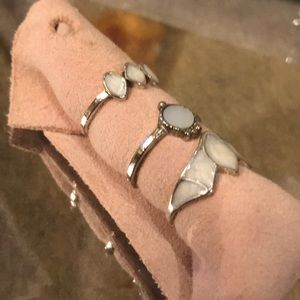 Anthropologie assorted rings